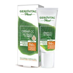 Cremă CC Mediu Matifiantă Poliplant Microbiom Protect Gerovital Plant, 30 ml, Farmec