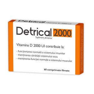 Detrical Vitamina D 2000UI, 60 comprimate, Zdrovit