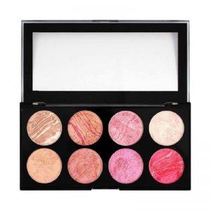 Paletă de farduri pentru obraz, Makeup Blush pentru conturare si iluminare, Blush Queen, 13g, Revolution