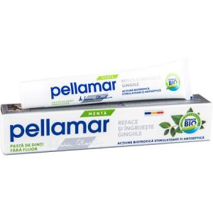 Pastă de dinți fără fluor cu menta, 50 ml, Pellamar