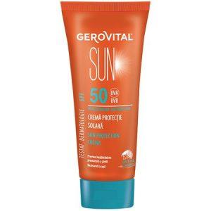Crema pentru protectie solara cu SPF 50 Gerovital Sun, 100 ml, Farmec