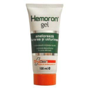 Hemoron gel ameliorează durerea și usturimea, 100 ml, FarmaClass
