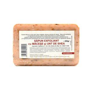 Sapun exfoliant cu macese si unt de shea, 200 g, Apidava