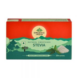 Indulcitor Natural Stevie, Hipocaloric, 25 plicuri, Organic India