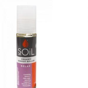 Roll-On Relax cu Uleiuri Esențiale Pure Organice ECOCERT 11 ml | Amestec Relaxant SOiL