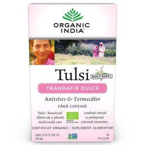 Ceai Tulsi Trandafir Dulce 18 Organic India