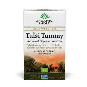 Ceai Tulsi Tummy | Digestiv cu Plante Linistitoare si Condimente 18  Organic India