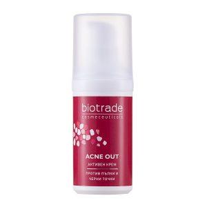 Cremă activă pentru ten acneic Acne Out, 30 ml, Biotrade