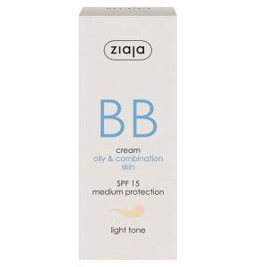 Crema BB cu SPF 15 nuanța light pentru ten gras și mixt, 50 ml, Ziaja