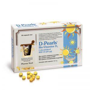 D-Pearls Bio-Vitamina D3, 80 capsule, Pharma Nord