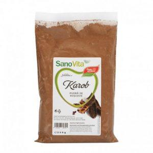 Pudră de roșcove – Karob, 250 g, Sanovita