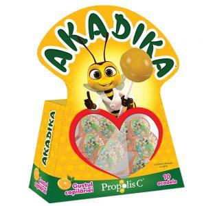 Acadele cu propolis si portocale Akadika, 10 bucăți, Fiterman Pharma