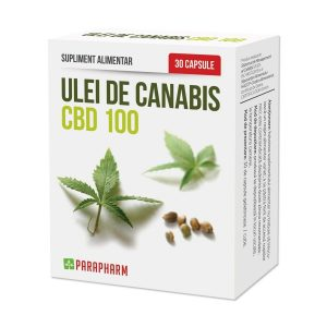 Ulei de Canabis CBD 100, 30 capsule, Parapharm
