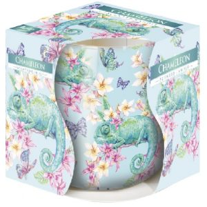 Lumanare parfumata in pahar imprimat CAMELEON