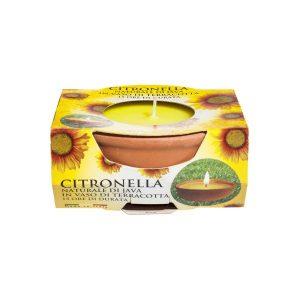 Lumanare citronella in vas de teracota