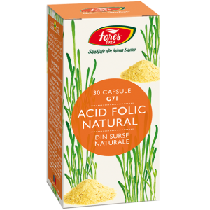 Acid Folic Natural, 30 capsule, G71, Fares