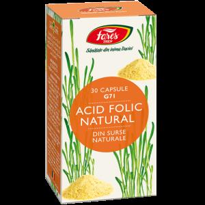 Acid Folic Natural, 30 capsule, G71, Fares