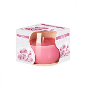 Lumanare parfumata in pahar imprimat ROSE