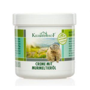 Crema cu ulei din grasime de marmota, 250 ml, Krauterhof