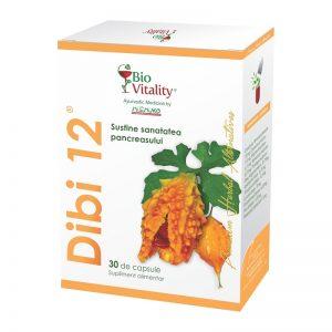 Dibi-12, favorizeaza reglarea glicemiei , 30 capsule, Bio Vitality