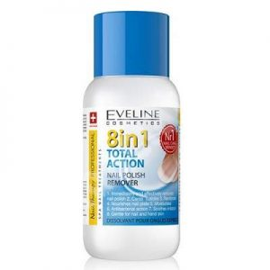 Dizolvant pentru unghii Total Action 8 în 1, 150 ml, Eveline Cosmetics