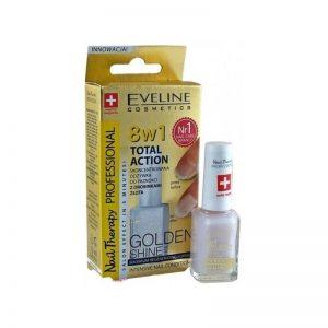 Tratament profesional 8în1 Golden Shine Nail Therapy, 12 ml, Eveline Cosmetics