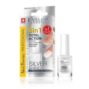 Tratament profesional 8in1 Silver Shine Nail Therapy, 12 ml, Eveline Cosmetics