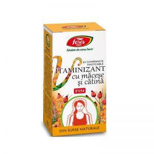 Vitaminizant cu Maceșe și Cătina, F154, 63 capsule, Fares