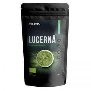Lucerna Alfalfa pulbere ecologica, 125 g, Niavis