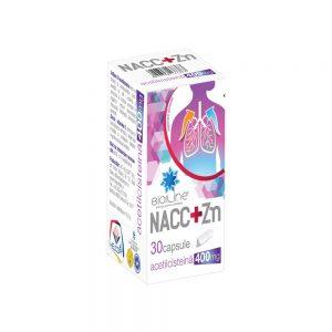 NAC+Zn 400 mg cu vitamina C și zinc Bioline, 30 capsule, Helcor