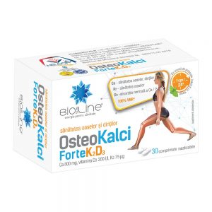 Osteo Kalci Forte K2D3, 30 comprimate masticabile, Helcor