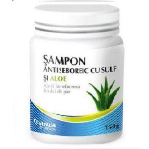 Șampon antiseboreic cu sulf și aloe, 150 g, Vitalia
