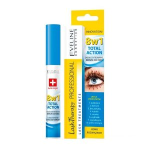Ser concentrat pentru gene Lash Therapy Total Action 8 in 1, 10 ml, Eveline Cosmetics