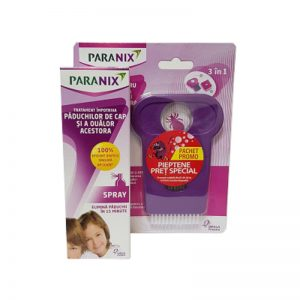 Spray Paranix antipăduchi, 100 ml + Pieptan, Omega Pharma
