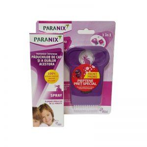Spray Paranix antipăduchi, 100 ml + Pieptan, Omega Pharma