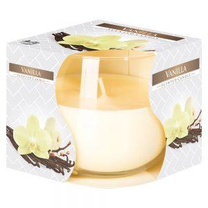 Lumanare parfumata in pahar imprimat Vanilla
