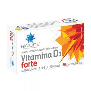 Vitamina D3 Forte, 30 comprimate, Helcor