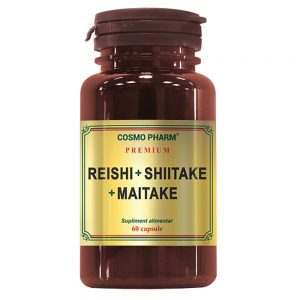 Reishi + Shiitake + Maitake, 60 capsule, Cosmopharm