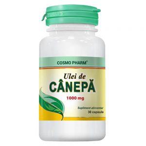 Ulei de canepa 1000 mg, 30 capsule, Cosmopharm