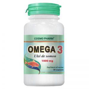 Omega 3 ulei de somon 1000mg, 30 capsule, Cosmopharm