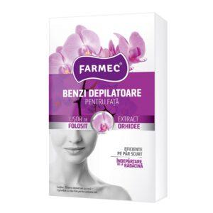 Benzi depilatoare pentru fata cu extract de orhidee, Farmec