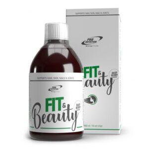 Bautura cu colagen imbogatita cu vitamine, minerale si acid hialuronic Fit & Beauty, 480 ml, Pro Nutrition
