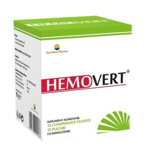 Hemovert, 15 comprimate + 15 plicuri, Sun Wave Pharma
