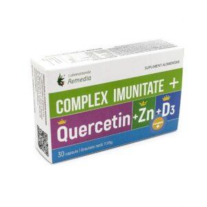 Complex IMUNITATE Quercitin + Zn + D3, 30 capsule, Remedia