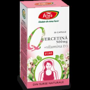 Quercitina + Vitamina D3 (F195), 30 capsule, Fares